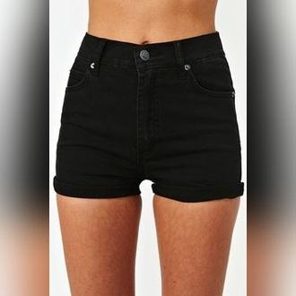 shorts high waisted shorts black shorts denim black denim denim shorts