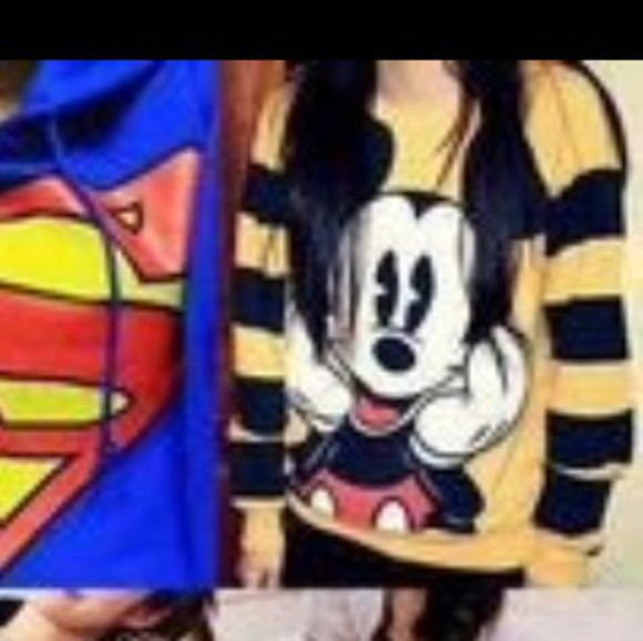mickey mouse yellow stripes