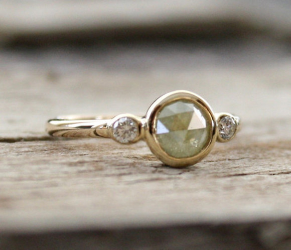 gold geometric jewels ring silver gem jewlery simple elegant trend