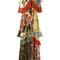 Roberto cavalli ruffle tier printed maxi dress, women's, size: 40, red, silk/polyester