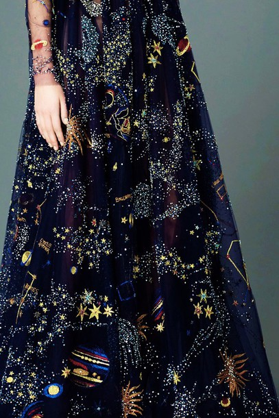 Dress Beautiful Galaxy Print Stars Planets Wheretoget