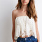 Crochet-paneled chiffon top | forever 21 canada