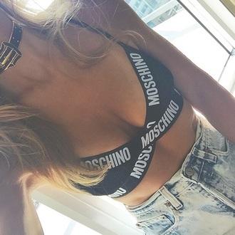 underwear bra moschino