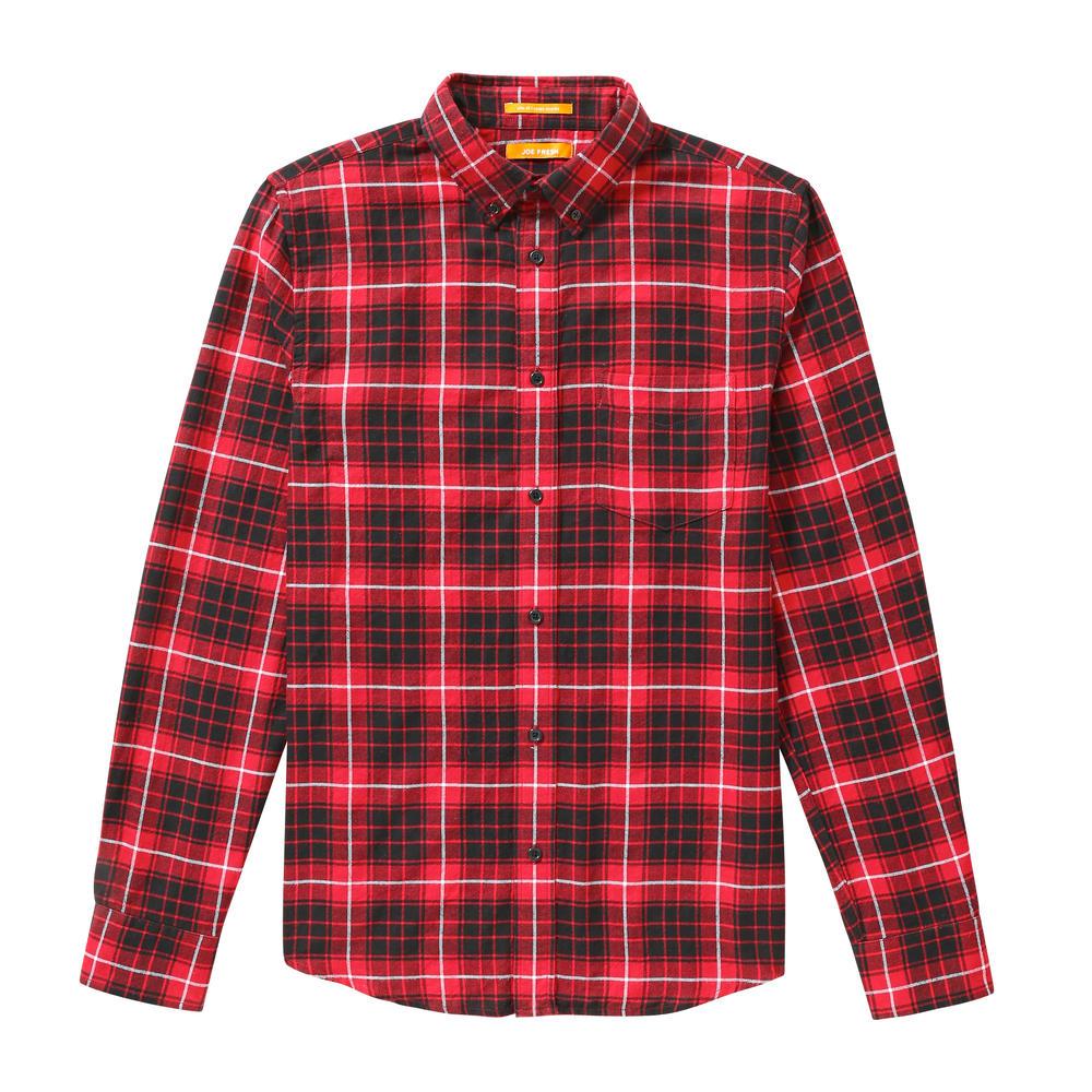 Joe fresh men's dark plaid flannel shirt