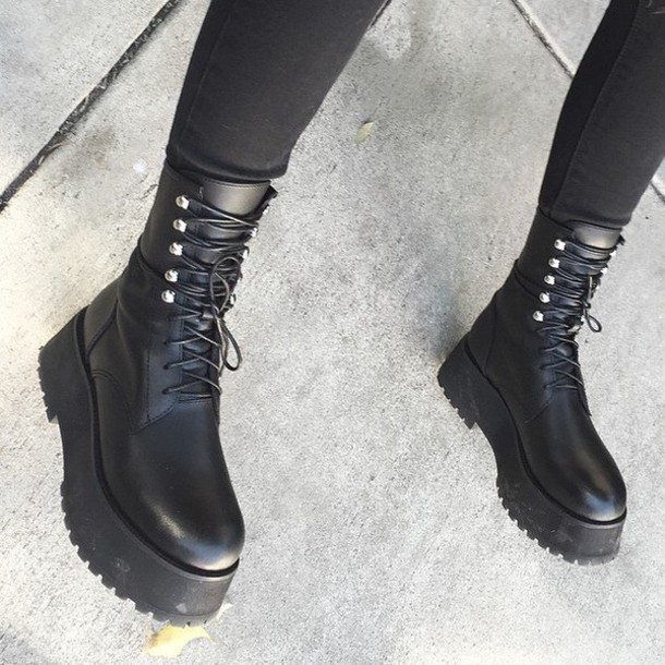 shoes platform shoes platform shoes platform boots unif platform shoes platform boots platform lace up boots black boots black leather black goth punk