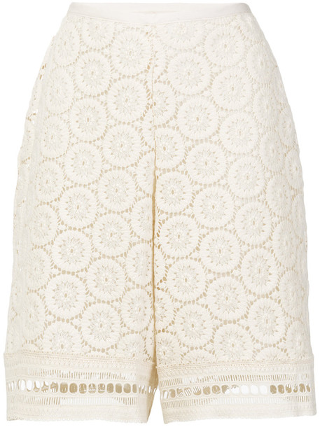 shorts crochet shorts women white cotton crochet
