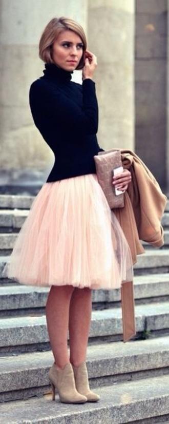 skirt tulle skirt pink skirt princess skirt: cream cream skirt ruffle chule jumper style ballet skirt pretty skirt