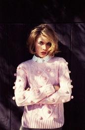 sweater,baby pink,knitted sweater,knitwear,dress