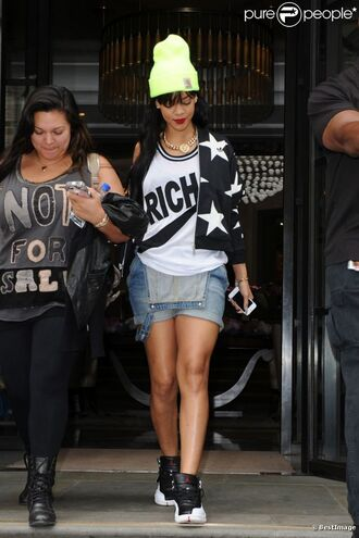 shorts jumpsuit rihanna high top sneakers tank top hat