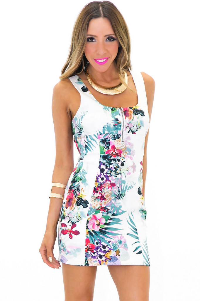 KAPUNA TROPICAL PRINT BODYCON DRESS | Haute & Rebellious