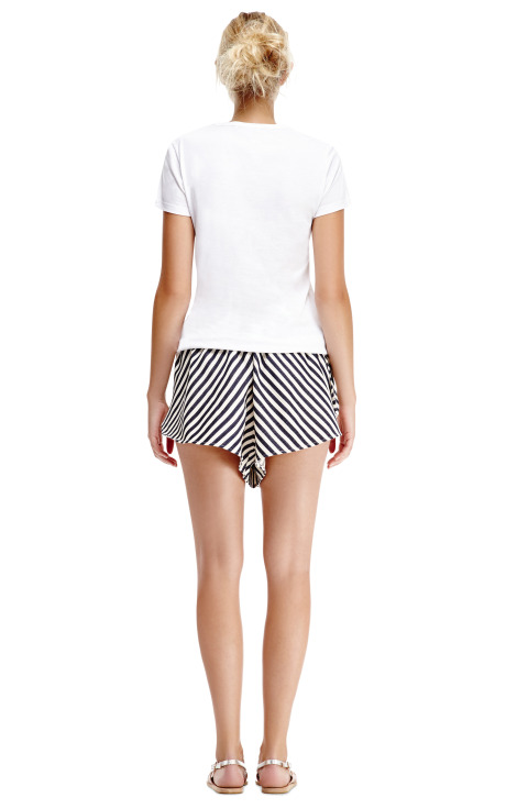 Striped Cotton Wrap Shorts by Karla Špetic - Moda Operandi