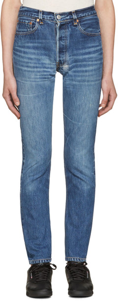 Re-done jeans high blue