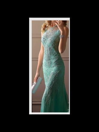 dress long prom dress blue dress sequin dress