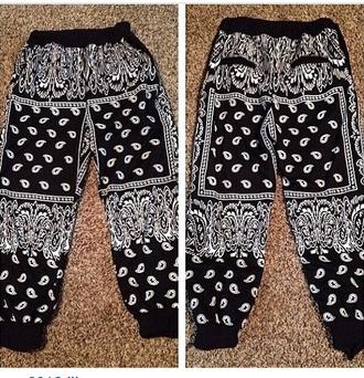 pants bandana print bandana print joggers