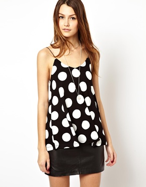 ASOS | ASOS Swing Cami Top with Spot Print at ASOS