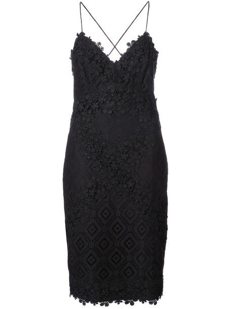 Nicole Miller dress mini dress mini women cotton black silk