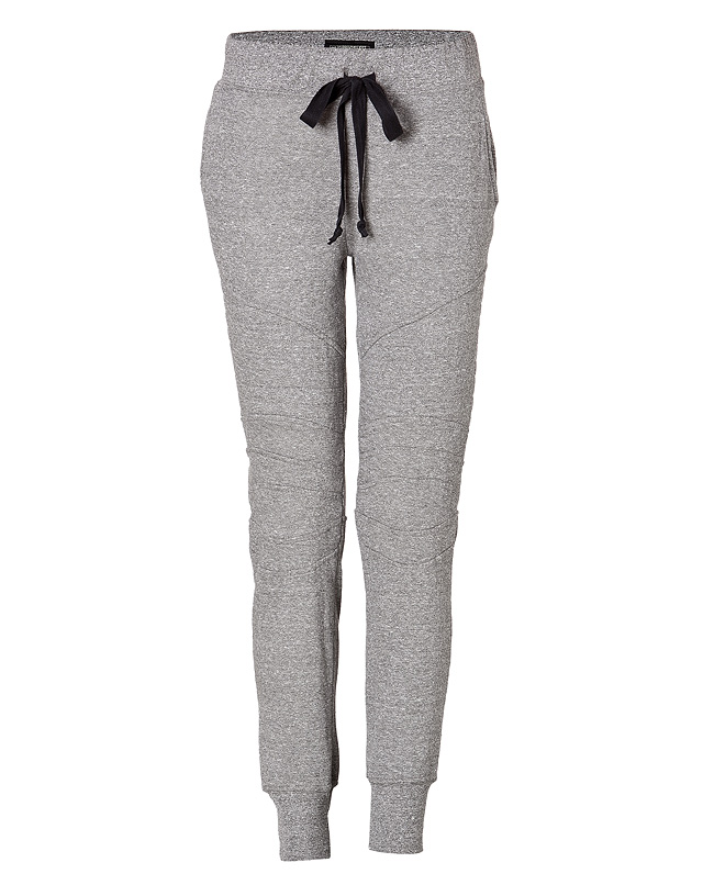 Cotton Blend Moto Sweatpants in Grey from CURRENT/ELLIOTT | Luxury fashion online | STYLEBOP.com