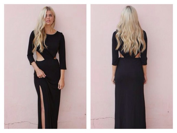 dress cut out maxi dress