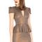 Shimmering peplum bodycon dress