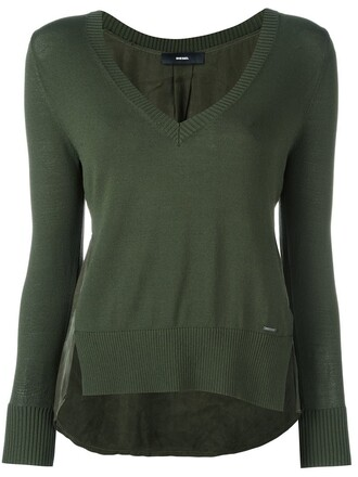 jumper green sweater