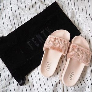 quality design a5002 e9104 Puma - NWT PINK Rihanna x PUMA Leadcat Fenty Fur Slides from Fashion's  closet on Poshmark
