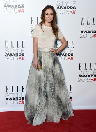 skirt maxi skirt olivia wilde top