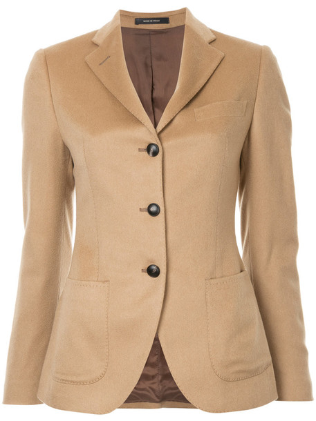 TAGLIATORE blazer women fit nude jacket