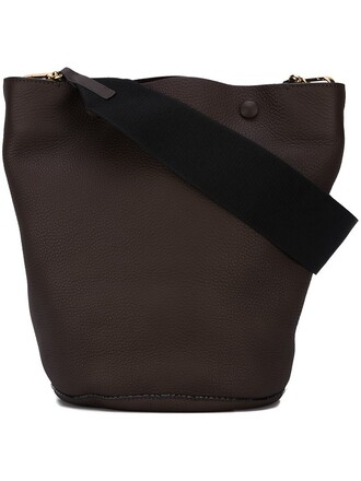 women leather brown bag