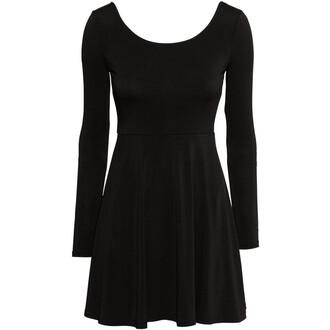 dress black cute little black dress jersey skater dress