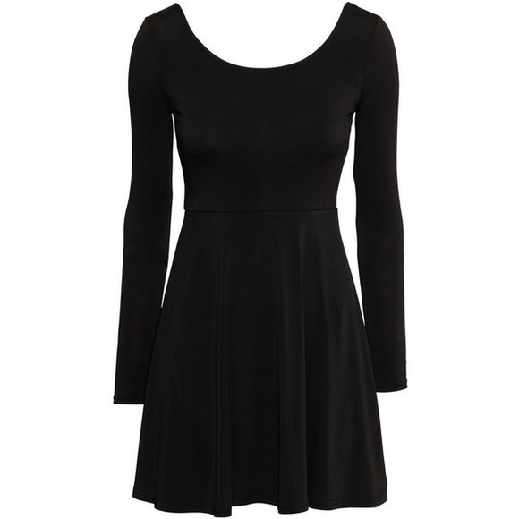 jersey black dress cute little black dress skater dress