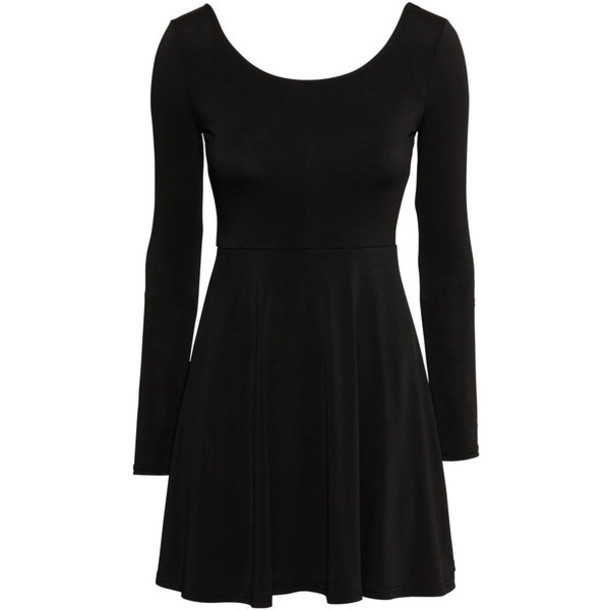 dress black cute little black dress jersey skater dress
