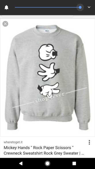 sweater mickey mouse mickey mouse hands