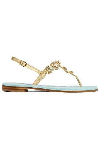 metallic embellished sandals leather sandals leather gold blue sky blue shoes