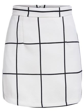 skirt white plaid skirt midi skirt a line skirt