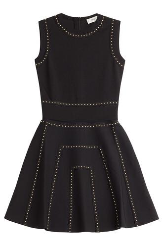 dress mini studded black