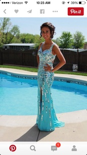 dress,sequin dress,prom dress,sky blue