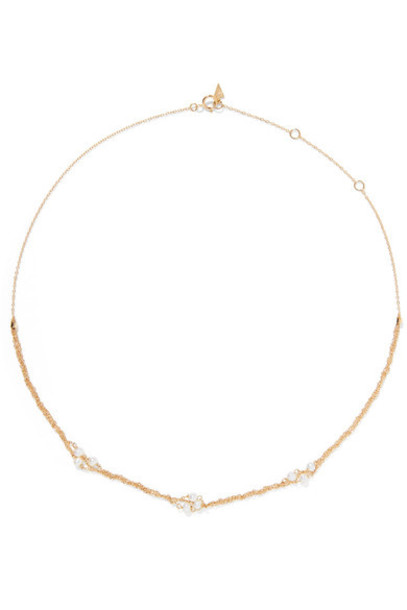 Loren Stewart pearl necklace gold jewels