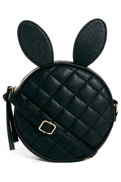 ROMWE | Diamond Shape Rabbit Hair Black Bag, The Latest Street Fashion