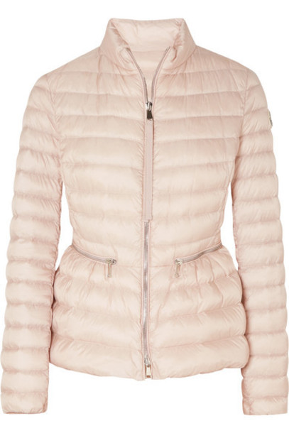 Moncler - Quilted Shell Down Jacket - Pastel pink