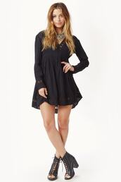dress,backless,black,long sleeves,black dress,bikiniluxe,lightweight airy cotton,bikini luxe,bohemian dresses,crochet cut out