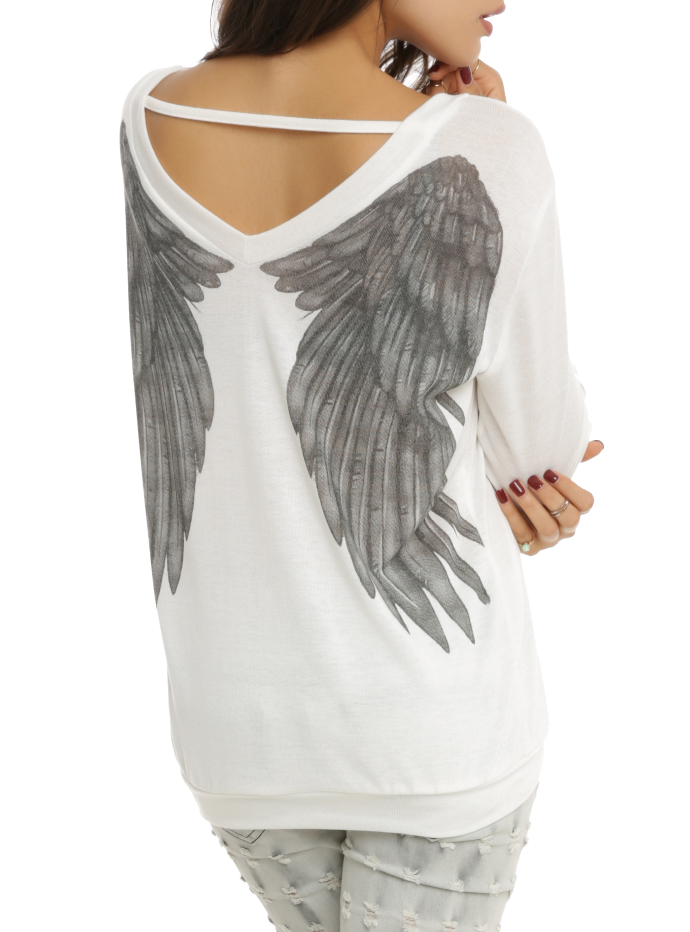 Angel Wing Sweater Top | Hot Topic