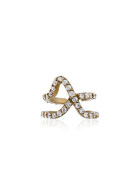 Paige Novick cuff mini women ear cuff gold yellow grey metallic jewels