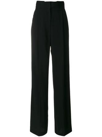 high waisted high women black pants