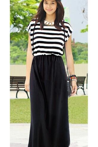 maxi dress black maxi dress kclloth striped dress two tone dress