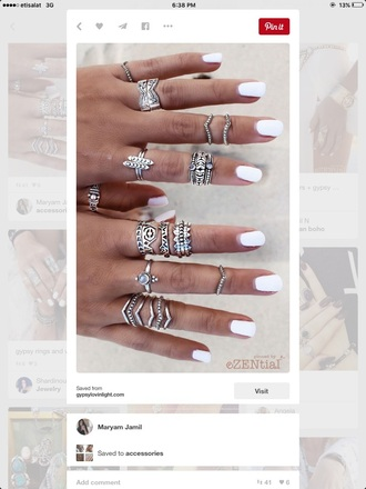 nail accessories boho silver silver ring jewelry ring knuckle ring boho jewelry