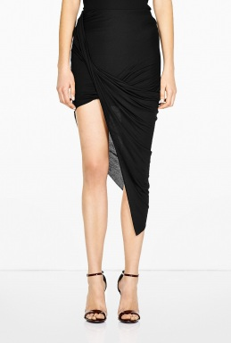 HELMUT | Asymmetric Wrap Skirt by HELMUT