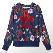 sweater,adidas hoodie,rita ora,adidas,floral