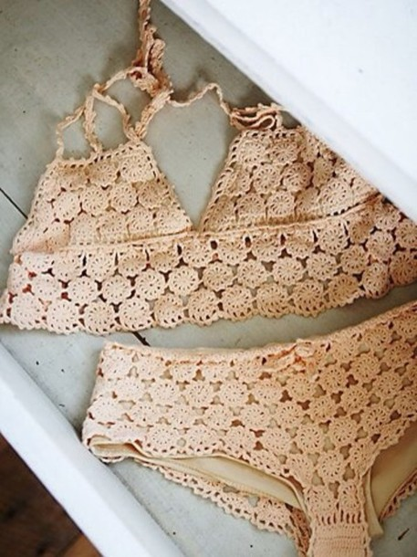 swimwear crochet bikini boho bikini