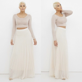 shirt pleated skirt maxi skirt