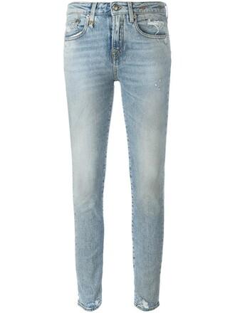 jeans women spandex light cotton blue